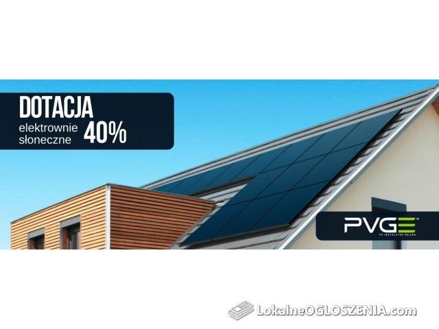 Obniż rachunki za prąd prawie do 0zł z dotacją 40%.