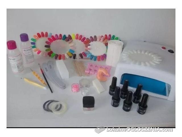 Zestaw XXL do manicure hybrydowego-Lampa UV lub LED! 10x lakier