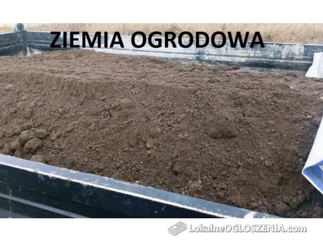 Ziemia ogrodowa pod trawnik przesiana Humus Czarnoziem Poznań okolice