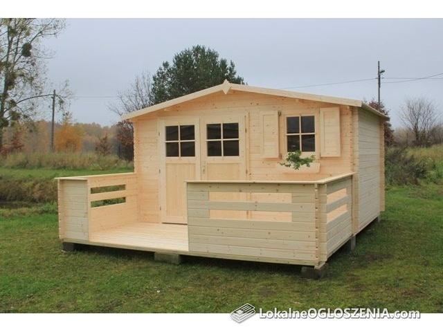 Domek ogrodowy drewniany narzędziowy Narcyz 416x316 cm Z/bez tarasu