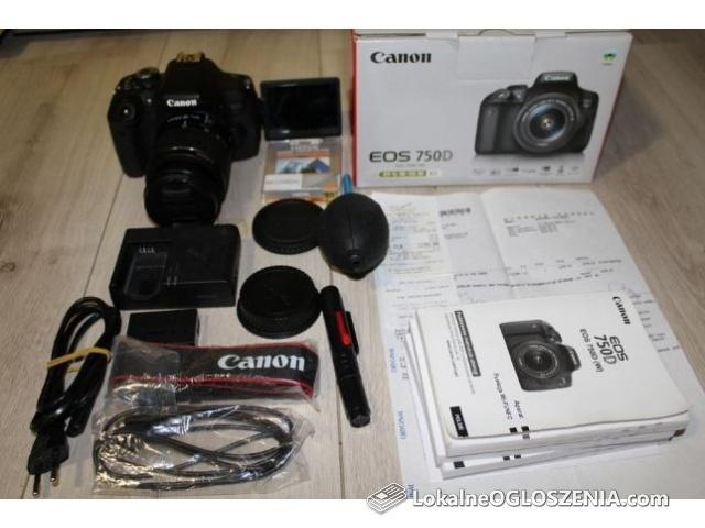 Sprzedam lustrzankę cyfrową Canon 750D