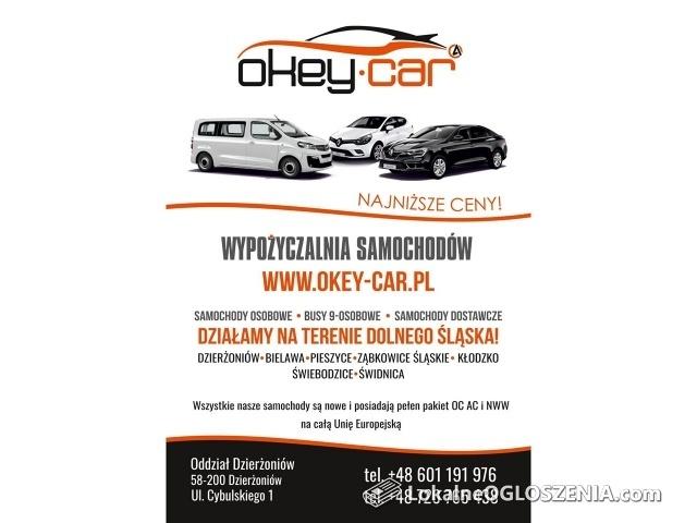 OKEY-CAR Wypożyczalnia samochodów, busów dostawczych Dzierżoniów
