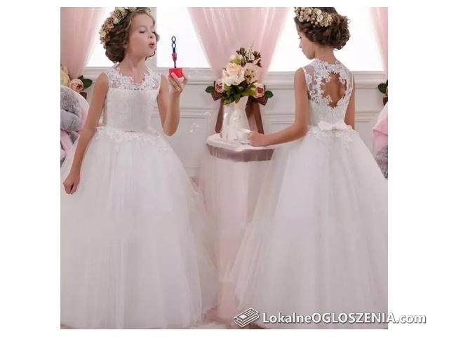 Zjawiskowa Suknia na Każdą Okazję Komunijna Ślub r.od 116 do 170