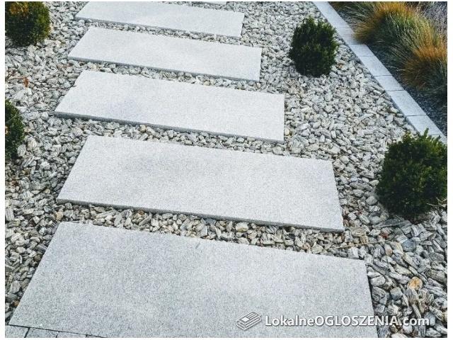 PŁytki płyty granitowe taras,chodnikowe Strzegomski granit producent