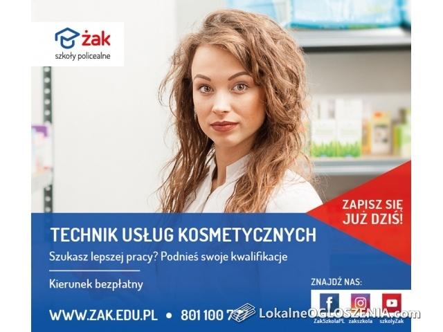 Technik usług kosmetycznych – w Szkole Żak za darmo!