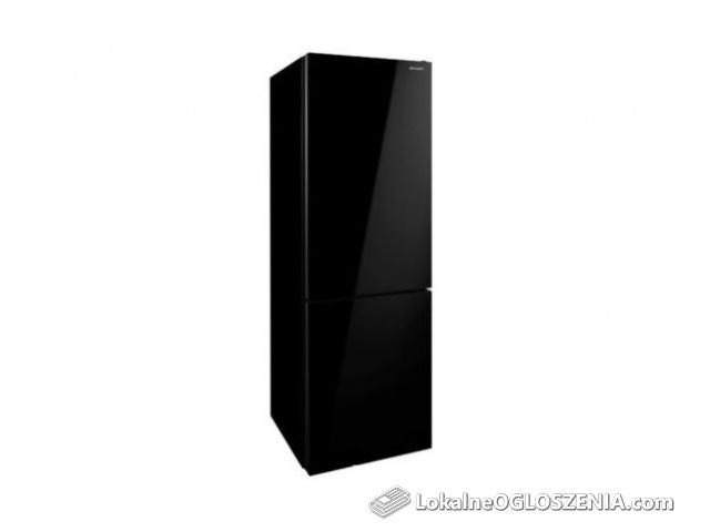 Lodówka Sharp SJ-BA31IEBG2-EU A++, czarne szkło