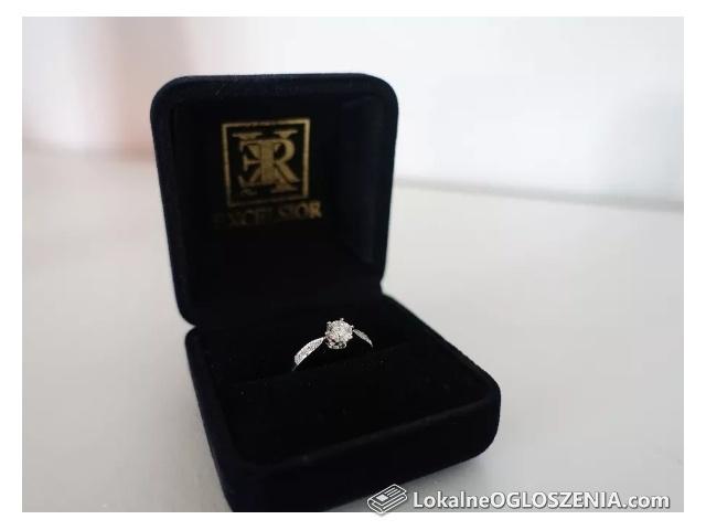 Pierścionek Zaręczynowy Brylant 0.45ct białe złoto