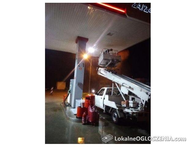 Czyszczenie mycie stacji benzynowych hal produkcyjnych elewacji dachów