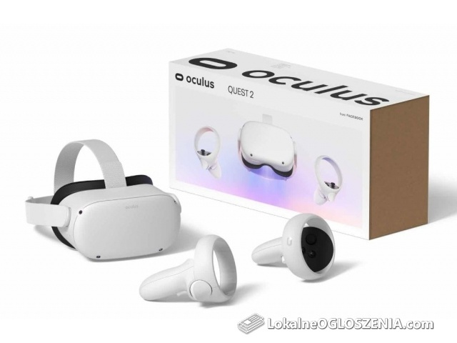 Gogle VR Oculus Quest 2 64 GB 2 Kontrolery Nowe Wysyłka Gratis