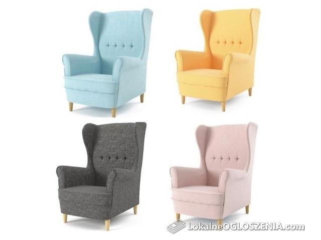 Fotel uszak, szybka dostawa - dostępne 6 kolorów- wysyłka cały kraj