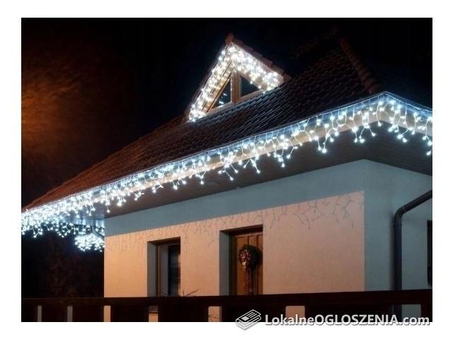 Sople 60 LED! kurtyna świetlna do okna 3,5 m 3 kolory lampki choinkowe