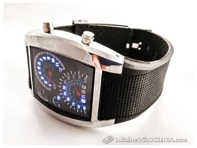 Zegarek męski cyfrowy z kalendarzem zegary samochodu! Podświetlenie!