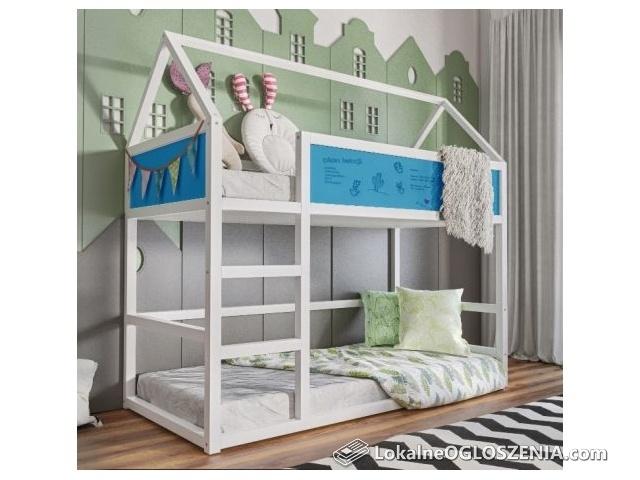 Solidne łóżko dziecięce HOUSE II piętrowe, dostawa do 10 dni PRODUCENT