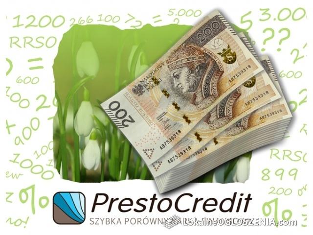 Porównywarka pożyczek PrestoCredit - wybierz najlepszą pożyczkę!
