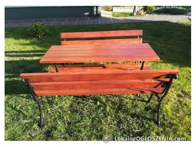 komplet, stół ławki
