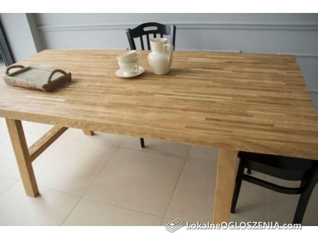 Stół Dębowy - Loft - Industrial - lite drewno 200x100