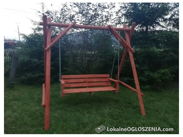 Huśtawki ogrodowe, meble ogrodowe, wychodki, piaskownice, place zabaw