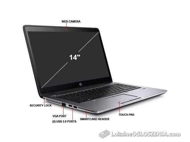 Ultrabook przenośny szybki Hp Elitebook 840 G1 (128GB SSD - 8GB ram)