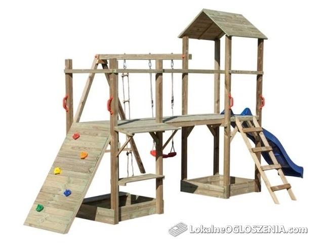 DONALD plac zabaw: ślizg huśtawka drabinka ścianka i lina wspinaczkowa