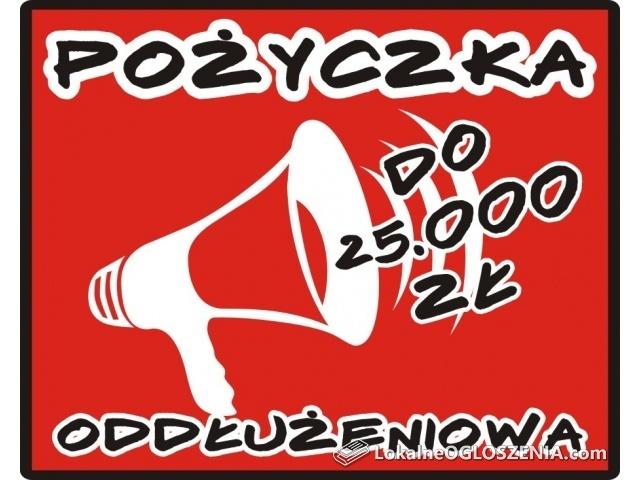 POŻYCZKA do 25.000 zł dla zadłużonych!
