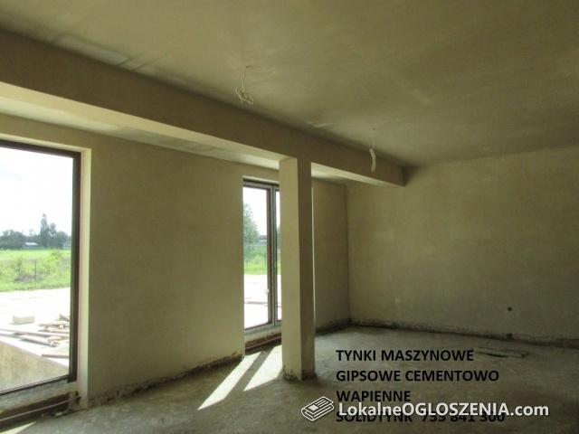 TYNKI MASZYNOWE ŚREM ŚRODA WIELKOPOLSKA GOSTYŃ JAROCIN gipsowe cementowo wapienne SREM
