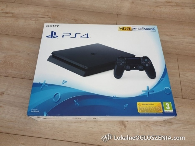 Konsola Sony Playstation 4 PS4 Slim / HDR / 500GB / Pad / Gwarancja