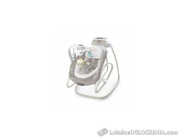 DUMEL Huśtawka Leżączek elektryczna de luxe BS 10583 2w1