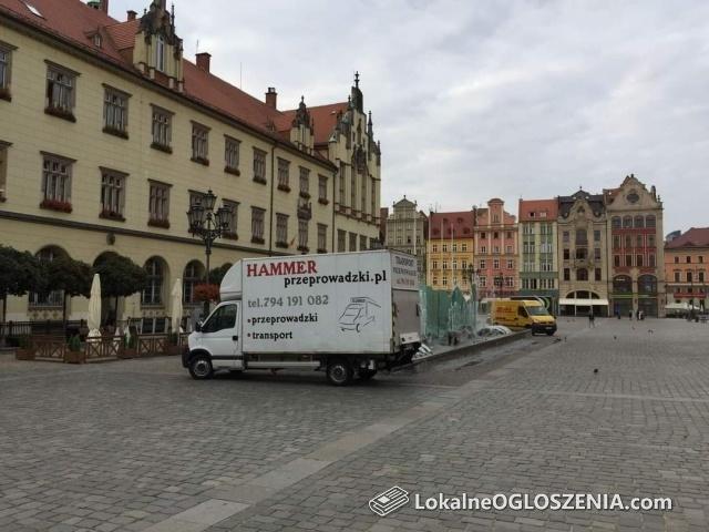 Przeprowadzki Wrocław 794191082 Tani transport Palet auto z windą