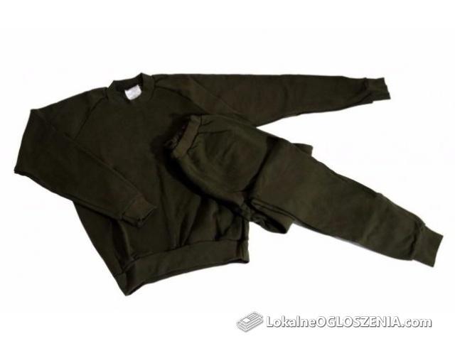 Dres wojskowy żołnierski ocieplacz zielony spodnie i bluza