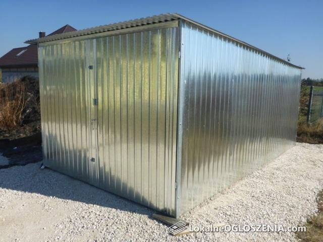 GARAŻ blaszany Schowek budowlany BLASZAK na budowę Garaże
