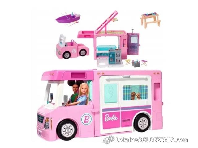 NOWY Camper Barbie Kamper 3 w 1 Mattel