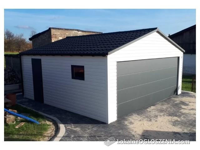 Garaż blaszany garaze drewnopodobne Nowoczesne garaże Bramy segmentowe