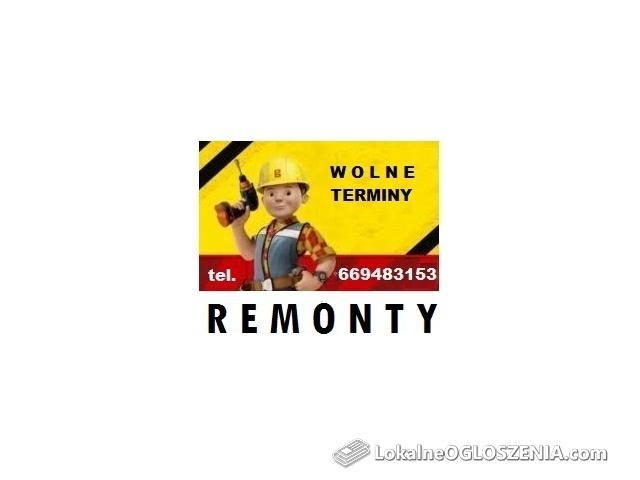 Prace REMONTOWE - wolny termin od 07.05.