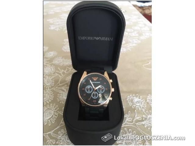 Zegarek Emporio Armani AR-5905 EA7 Czarny regulowana bransoletka NOWY