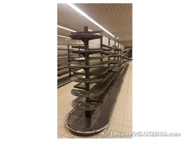 Regały sklepowe-WIERLAND 2012 r ,przyscienne,gondola,kosze.półki