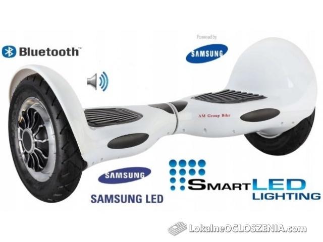 Elektryczna Deskorolka HOVERBOARD BLUETOOTH 10' SAMSUNG 1000W + gratis