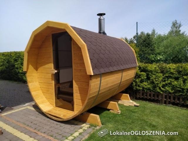 Sauna Ogrodowa+Beczka po saunie, Beczka, Balia, Hot tuba, Ruska bania