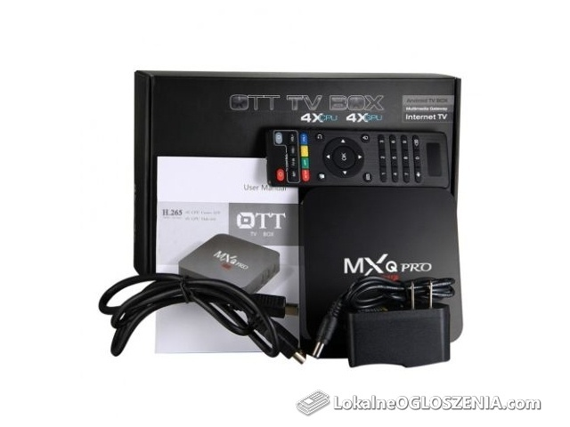 TV BOX Nowy MXQ PRO 1/8GB S905W SMART 4K Kodi Android 7.1