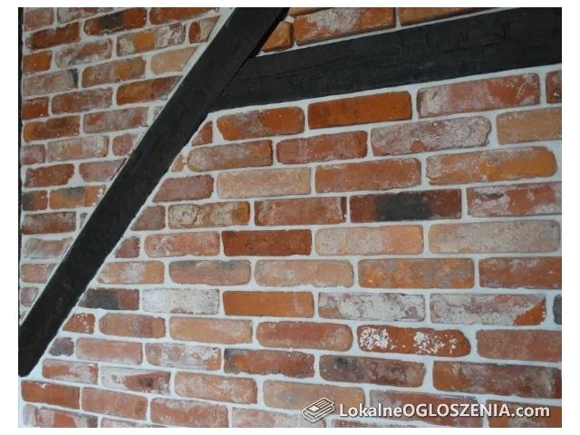 Płytki z cegieł m2, cięta cegła, stara cegła, ceglana ściana, cegiełki