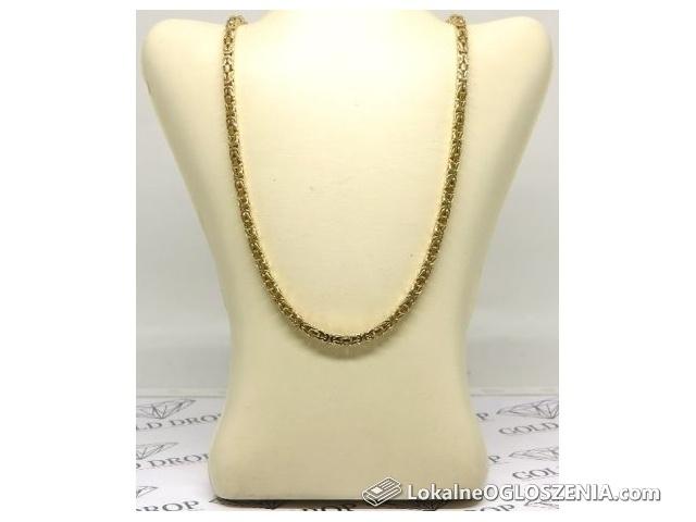 Żółte złoto 0,585, łańcuch splot królewski