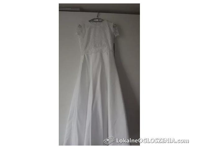 Sukienka biała na komunie 140 /146