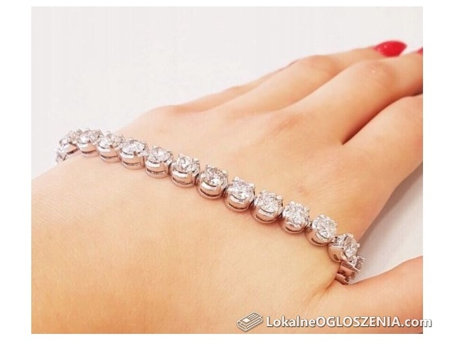 Bransoletka Brylanty 17,02 ct!, białe złoto 18k Diament, Brylant