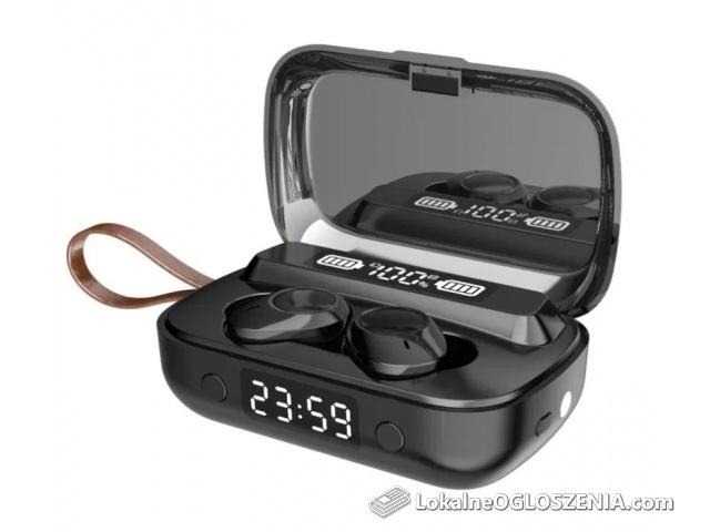 PROMOCJA! Słuchawki bezprzewodowe 5.1 Wodoodporne + Powerbank Zegarek