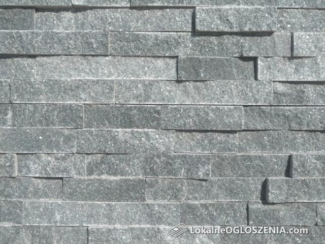 Grafitowy kamień elewacyjny naturalne kamienie elewacyjne na ścianę