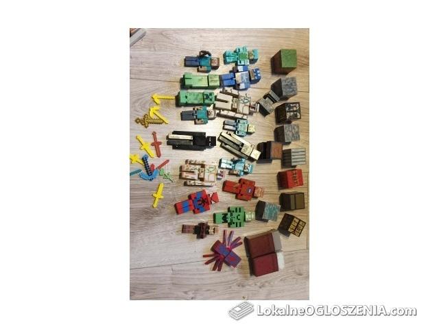 Figurki minecraft, duży zestaw!